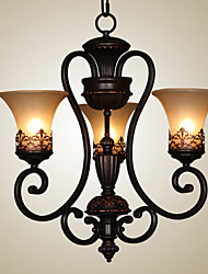 cheap -Ecolight™ 3-Light Chandelier Ambient Light Painted Finishes Metal Glass Candle Style 110-120V / 220-240V Bulb Not Included / E26 / E27