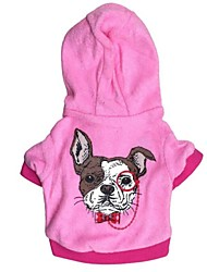 cheap -Cat Dog Hoodie Dog Clothes Cartoon Blue Pink Polar Fleece Cotton Costume For Spring &  Fall Winter Women's Casual / Daily