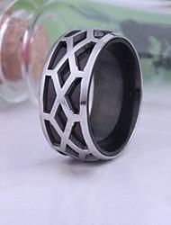 cheap -Men's Party/Casual Fashion Irregular Grid Titanium Steel Rings