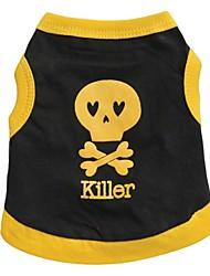 cheap -Cat Dog Shirt / T-Shirt Dog Clothes Black Black / Yellow Yellow Costume Cotton Cosplay XS S M L