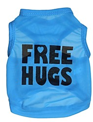cheap -Cat Dog Shirt / T-Shirt Dog Clothes Letter & Number Blue Terylene Costume For Summer Cosplay