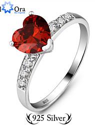 Недорогие -Жен. Кольцо Винный Стерлинговое серебро Мода Для вечеринок Бижутерия Сердце Любовь