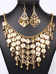 cheap -Jewelry Set Pendant Necklace Party Statement Work Casual Vintage Earrings Jewelry Gold For Party
