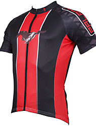 cheap -ILPALADINO Men's Short Sleeve Cycling Jersey Polyester 1# Red Blue Bike Jersey Top Road Bike Cycling Breathable Quick Dry Ultraviolet Resistant Sports Clothing Apparel / Stretchy / Back Pocket