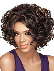 cheap -Synthetic Wig Curly Curly Wig Black Synthetic Hair Women's African American Wig Black StrongBeauty