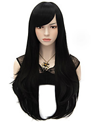 cheap -Synthetic Wig Cosplay Wig Straight Natural Straight Style Wig Black Synthetic Hair Women's Wig Very Long