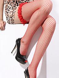 Недорогие -Жен. Супер секси Чулки - Однотонный, Оборки Лиловый Красный Розовый Один размер