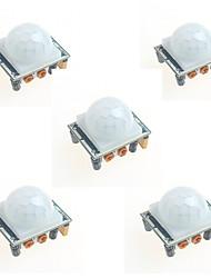Недорогие -5шт HC-sr501 инфракрасный модуль индукции человеческого тела пироэлектрический инфракрасный датчик датчик для Arduino