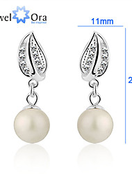 cheap -Dangling Dangle Work Casual Sterling Silver Earrings Jewelry Silver / Cream For