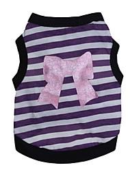 cheap -Cat Dog Shirt / T-Shirt Dog Clothes Purple Pink Costume Cotton Cosplay XS S M L