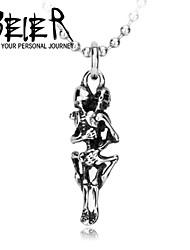 Недорогие -Мужские ювелирные изделия из нержавеющей стали скелет ожерелье кулон титана сталь уникальный стиль череп подвеска для человека