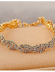 cheap -Women's Clear Chain Alloy Bracelet Jewelry Gold / Silver For Wedding Party Special Occasion Anniversary Birthday Engagement / Gift / Daily / Casual