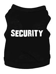 abordables -Chat Chien Tee-shirt Vêtements pour Chien Noir Bleu Costume Coton Lettre et chiffre Décontracté / Quotidien XS S M L XL XXL