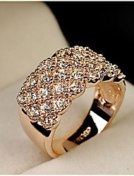 cheap -Women's Statement Ring Silver Golden Alloy Ladies Fashion Bling Bling Wedding Party Jewelry Pave / Rhinestone