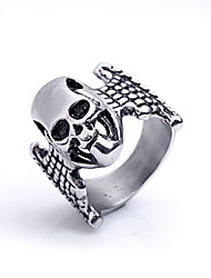 cheap -Men's Party/Casual Fashion Europe Style Skull Titanium Steel Statement Rings