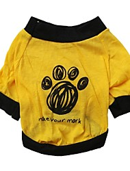 cheap -Cat / Dog Shirt / T-Shirt Green / Yellow Dog Clothes Summer Letter & Number / Geometic Cosplay