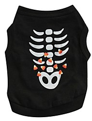 cheap -Cat Dog Shirt / T-Shirt Dog Clothes Skull Cotton Costume For Summer Cosplay