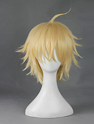 cheap -Seraph of the End Cosplay Cosplay Wigs Men's Women's 12 inch Heat Resistant Fiber Beige Anime
