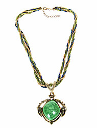 cheap -Vintage/Party Resin Bohemian Style Casual Pendant Necklace