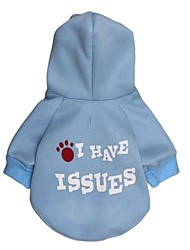 cheap -Cat / Dog Coat / Hoodie Dog Clothes Letter & Number Polar Fleece / Cotton Costume For Pets Cosplay