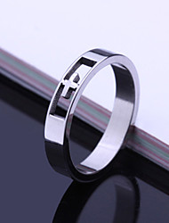 cheap -Men's Party/Casual Fashion Simple Hollow Out Cross Titanium Steel Rings
