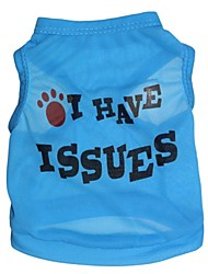cheap -Cat Dog Shirt / T-Shirt Dog Clothes Red Blue Pink Costume Terylene Letter & Number Cosplay XS S M L