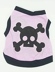 cheap -Cat / Dog Costume / Shirt / T-Shirt / Outfits Purple Dog Clothes Winter Skulls Cosplay / Halloween