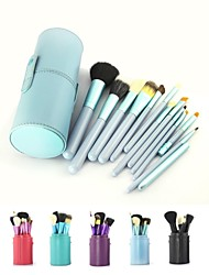 cheap -Professional Makeup Brushes Makeup Brush Set 12pcs Travel Full Coverage Goat Hair / Goat Hair Brush Wood Makeup Brushes for Makeup Brush Set