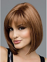 cheap -Synthetic Wig Straight Style Bob Wig Brown Synthetic Hair Women's Wig Short StrongBeauty
