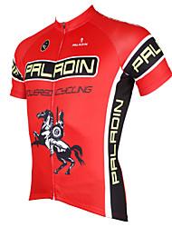 Недорогие -ILPALADINO Муж. С короткими рукавами Велокофты Полиэстер Красный Велоспорт Джерси Верхняя часть Горные велосипеды Шоссейные велосипеды Дышащий Быстровысыхающий Ультрафиолетовая устойчивость