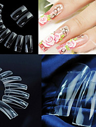 cheap -500 pcs Translucence Plastic Full Cover Nail Tips Half Nail Tips For Finger Nail nail art Manicure Pedicure Daily Abstract / Wedding / Fashion