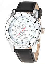 cheap -JUBAOLI Men's Dress Watch Aviation Watch Quartz Leather Black / Brown Analog Brown White / Black Black