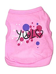 cheap -Cat Dog Shirt / T-Shirt Dog Clothes Costume Cotton Cosplay XS S M L