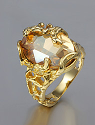 cheap -Statement Ring Gold Imitation Pearl Cubic Zirconia Statement Party Casual Jewelry