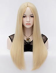 cheap -Synthetic Wig Straight Straight With Bangs Wig Blonde P-Strawberry Blonde / Bleach Blonde Synthetic Hair Women's Blonde