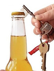 cheap -key shaped metal beer bottle opener ring key chain key ring