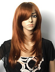 cheap -Synthetic Wig Straight Straight Wig Brown Synthetic Hair Women's Red StrongBeauty