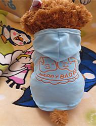 cheap -Dog Hoodie Dog Clothes Light Blue Polar Fleece Costume For Summer