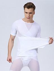 cheap -Sexy Men Corset Men Slim Body Shaper Waist Abdomen Underwear Slimming Shirt Gym Tank Top Bodybuilding Fashion Shirt