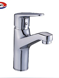 cheap -Traditional Widespread Waterfall Brass Valve One Hole Single Handle One Hole Chrome , Bathroom Sink Faucet