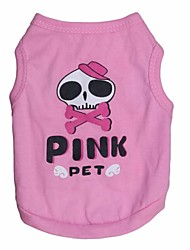 cheap -Lovely Beauty skeleton Pattern Cotton Vest for Pets Dogs(Assorted Sizes)