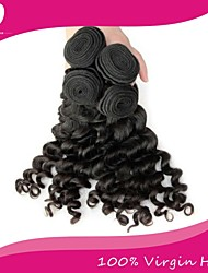 cheap -3 Bundles Brazilian Hair Water Wave Natural Color Hair Weaves / Hair Bulk 8-22 inch Black Human Hair Weaves Human Hair Extensions / 8A