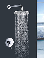 cheap -Contemporary Chrome Wall Mounted Ceramic Valve Bath Shower Mixer Taps / Brass / Single Handle Two Holes