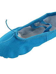 cheap -Women's Belly Shoes Ballet Shoes Yoga Gymnastics Flat Flat Heel Blue Gore