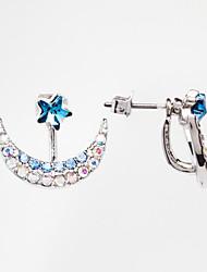 cheap -Women's Fashion Colorful Moon Star Shape Crystal Stud Earrings