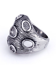 cheap -Men's Party/Casual Fashion Europe Style Titanium Steel Statement Rings