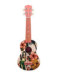 cheap -21-Inch Hawaiian Ukulele Girl