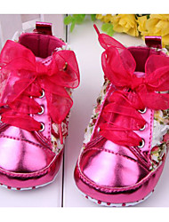 cheap -Girls' Comfort / First Walkers Patent Leather / PU Flats Bowknot / Flower Red / Pink / Purple Spring & Summer