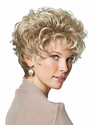 cheap -Synthetic Wig Curly Curly Asymmetrical Wig Blonde Short Blonde Synthetic Hair Women's Ombre Hair Blonde