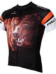 cheap -ILPALADINO Men's Short Sleeve Cycling Jersey Polyester Black Animal Cartoon Bike Jersey Top Breathable Quick Dry Ultraviolet Resistant Sports Clothing Apparel / Limits Bacteria / Stretchy